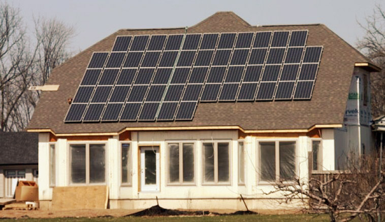 riscaldare pannelli solari